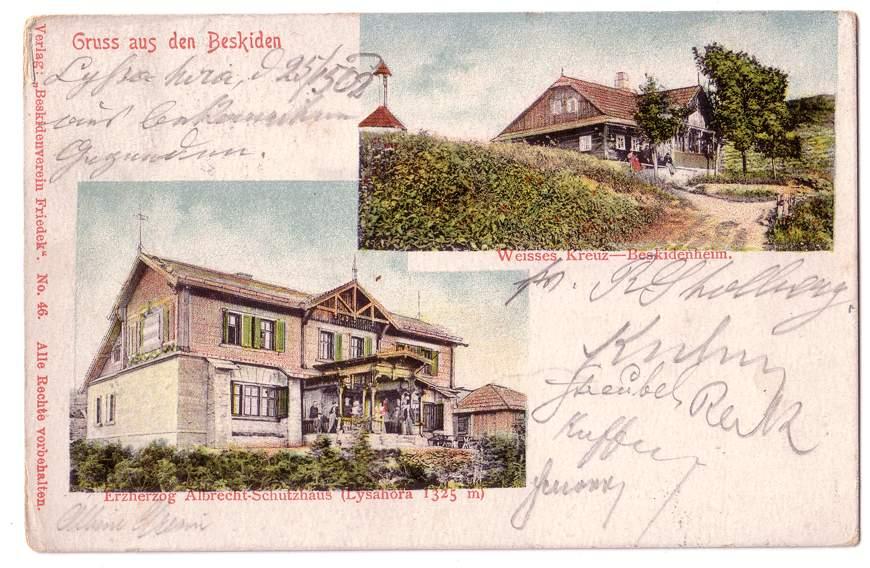 Pozdrowienia z Beskidów - takie pocztówki mogli wysłać do rodziny turyści na przełomie XIX i XX wieku.