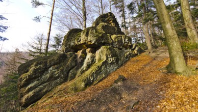 Diabli Kamień w Beskidzie Małym