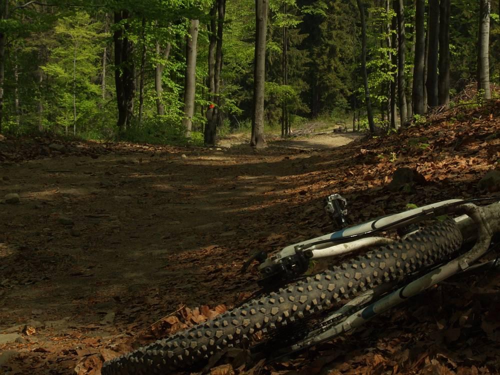 Tego typu szlaki wybierałem świadomie tylko w pierwszym sezonie jazdy w górach (Równica)